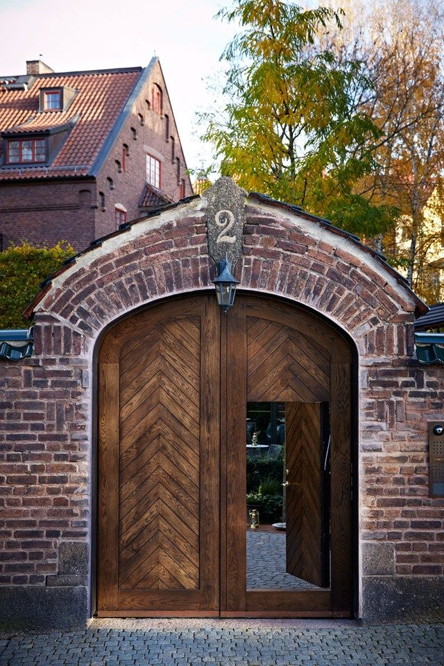 exterior wood doors. Ett Hem, Stockholm - Swedish Luxury Design Holiday Hotels & Ideas (houseandgarden.co.uk)