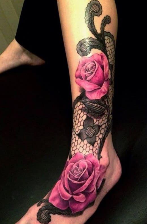 50 rose tattoos for women
