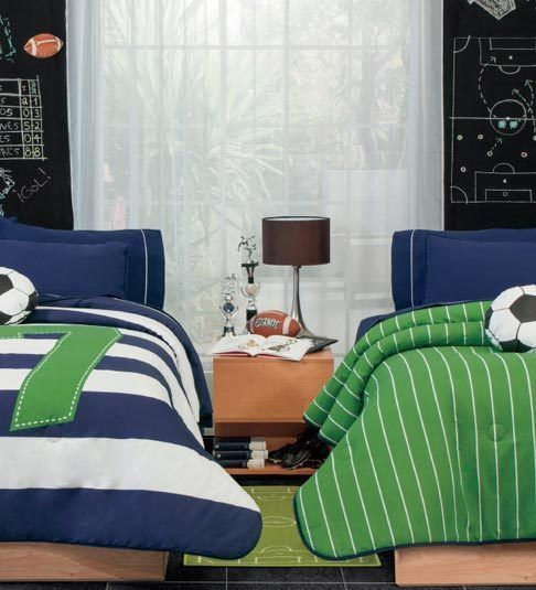 Details about twin full queen boys soccer 7 comforter - Complete bedroom sets with curtains ...