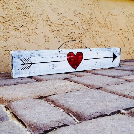 Hello love! This is an awesome decorative sign for your home, office, or dorm room! I hand painted this reclaimed wood sign in black, white and red