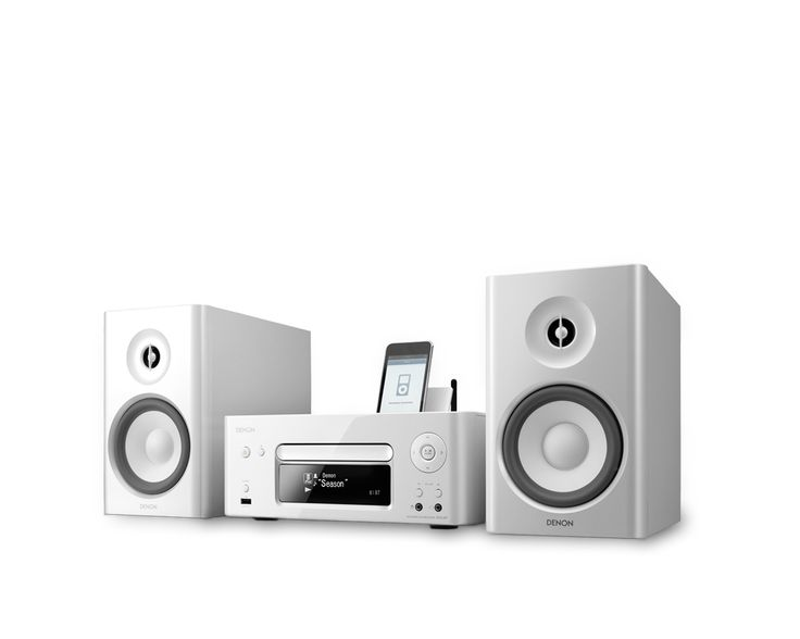 N-7 by Denon  Features:  *Enjoy variety of music source  *High-quality sound *Easy of use *2way speaker system *Beautifully matching design and pearl white finish