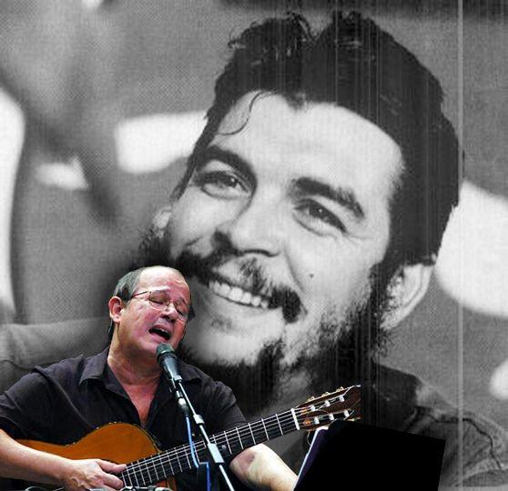 Silvio Rodríguez y Ernesto Che Guevara