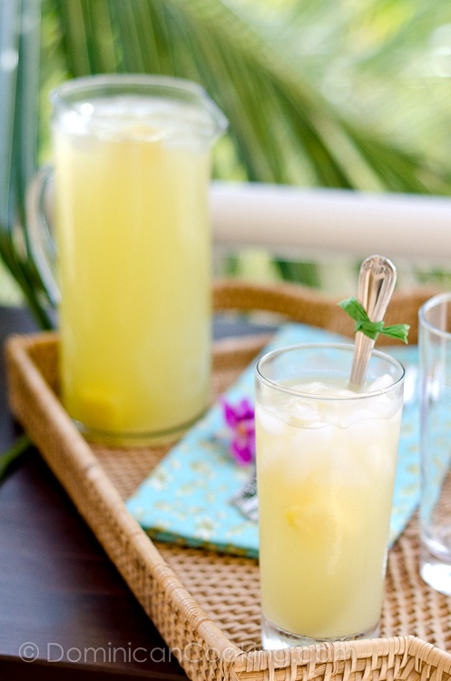 Fermented Pineapple juice made with pineapple peel.