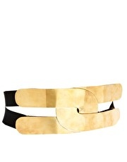 Wide Plate And Elastic Waist Belt