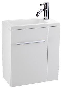 Meuble lave mains malaga blanc magasin de bricolage for Meuble milano brico depot