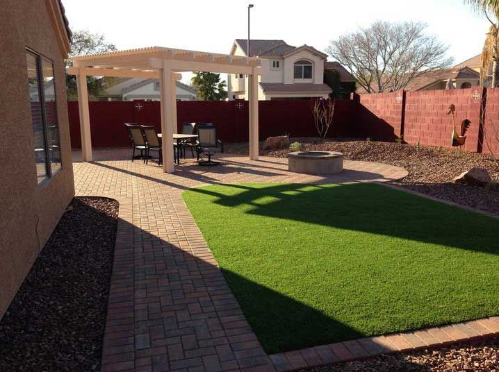 Arizona Backyard Design With Simple Pation Ideas Patio Covers And Fire Pit In 2018 Landscaping