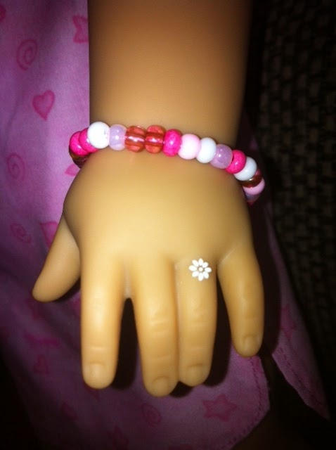 "American Girl doll bracelet and ""ring"""
