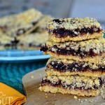 Blackberry Oatmeal Crumble Bars