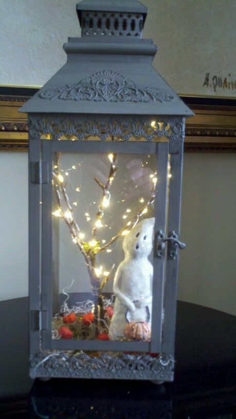 Whats great is you can change this for every holiday and still use the lantern for candles in the off season.