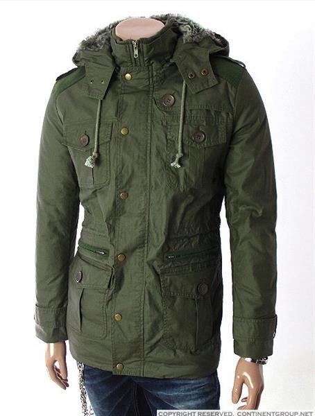 Длинная мужская куртка с копюшёном