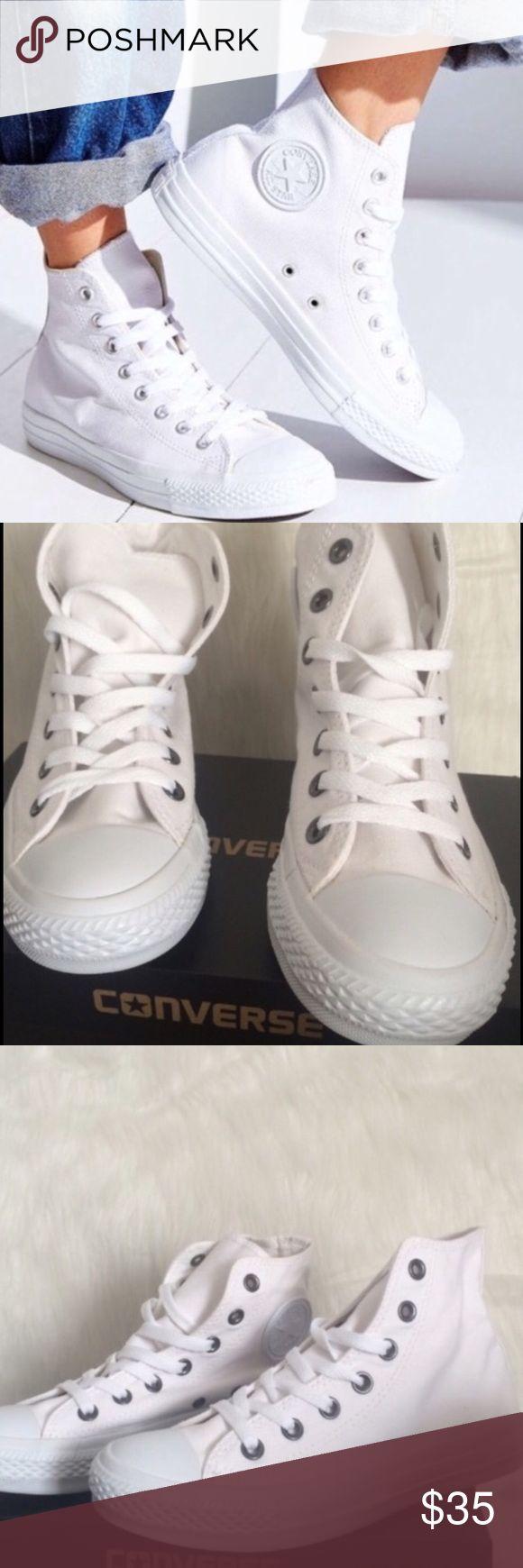 💄FLASH SALE💄CONVERSE WHITE WOMENS SIZE 9.5 SHOES No box Converse Shoes Sneakers