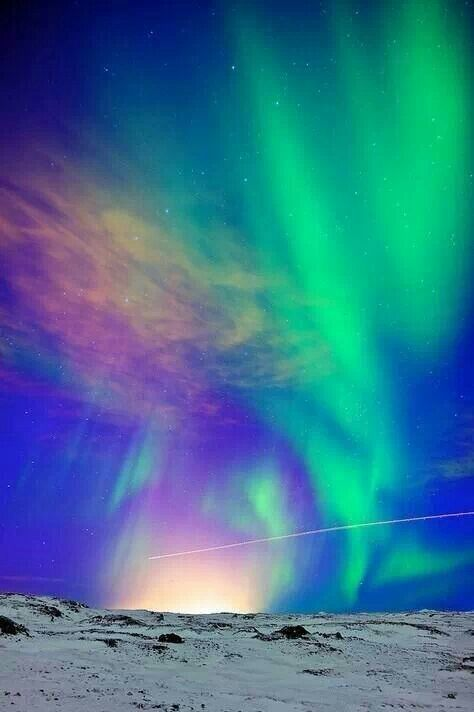Aurora Borealis in Iceland -- Like the description of the colours around Jehovah's throne (Ezekiel 1:26-28).