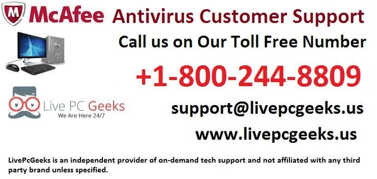 Dial +1-800-244-8809 To Find #McaFee #Antivirus #Customer #Support