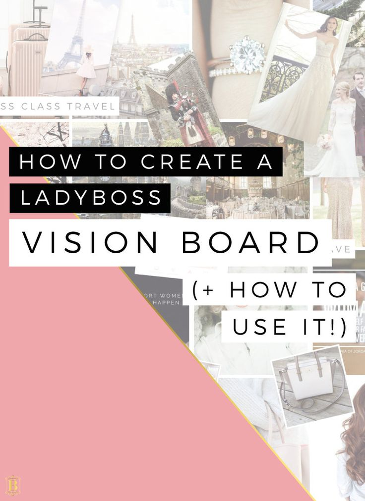 How to Create your Ladyboss Vision Board (+ How to use it!) This video tutorial will show you step-by-step how to create your own business, blog and personal vision board.