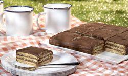 Recept » Colruyt Culinair koffiekoekjestaart met chocolade (petit beurre)