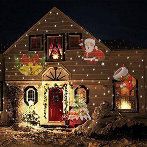 Lampe de projection du projecteur LED – Portable SANTA ELEMENTS conçoit projecteurs pour intérieur et extérieur de Noël éclairage mural de…