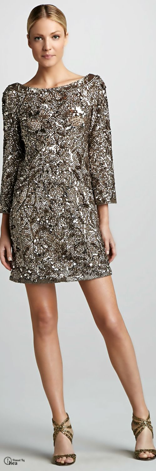 Marchesa Couture ● Sequined Tunic Dress