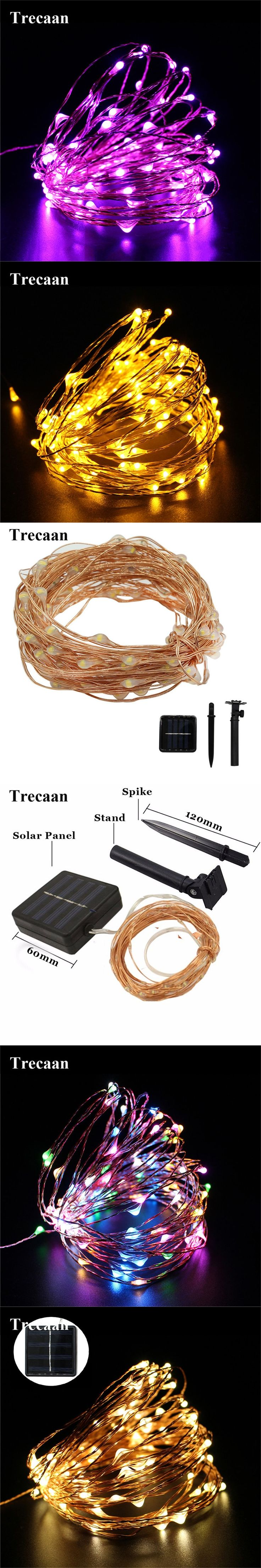 10M/15M/20M Copper wire Solar led string light Waterproof Wire Rope Lights Outdoor Landscape Patio Garden Camping Party