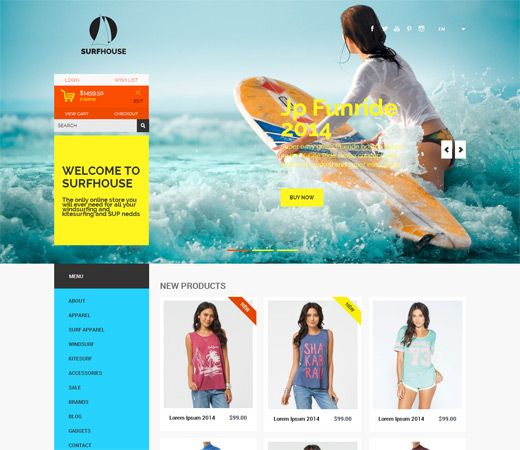 Surfhouse a Flat ECommerce Bootstrap Responsive Web Template