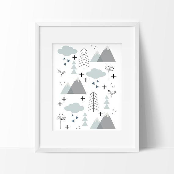 Cadre Chambre Bébé Nature Scandinave à Imprimer Affiche