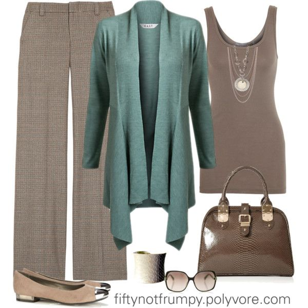 """Taupe of the Town!"" by fiftynotfrumpy on Polyvore"