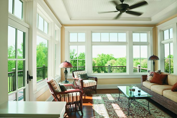 transom windows in sunroom | home porch transom windows placed above patio doors and other window ...