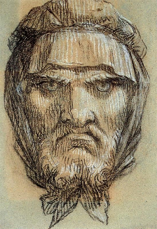 Pierre-Paul Prud'hon Head of Plutus, God of Wealth