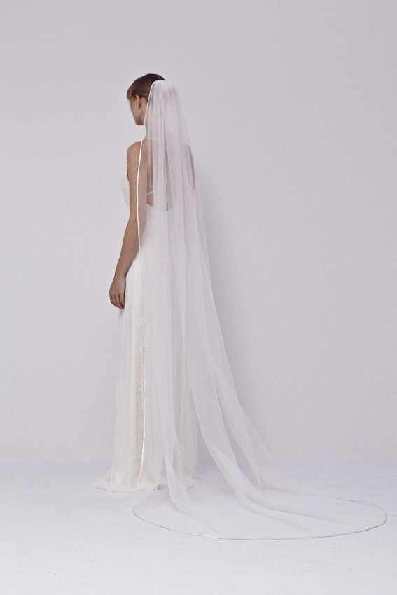 Satin Edge Firm Tulle Bridal Veil - Jenny Packham brudeslør 270cm