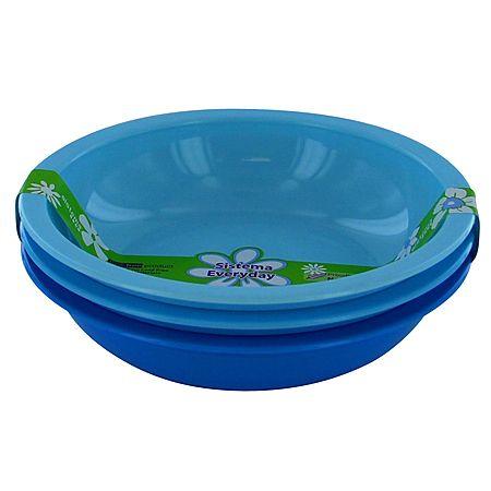 Sistema Medium Bowls 3 Pack Assorted Colours