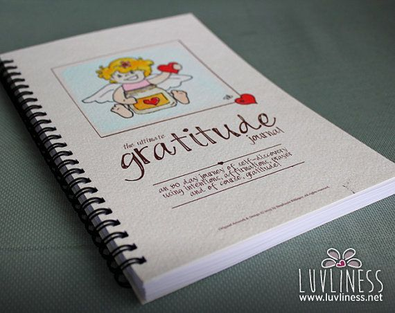 Angel of Love Gratitude Journal Hand Painted 80 paged by luvliness