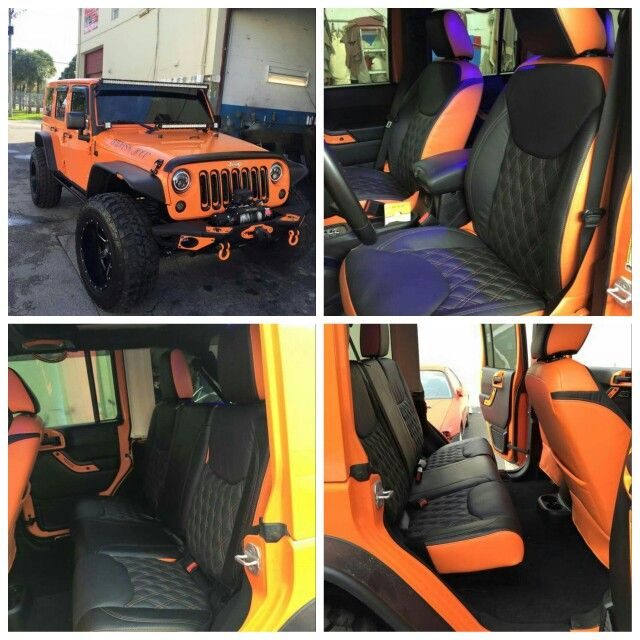 Jeep Wrangler 2014 Custom Interior Luxurycars Bestmiamicompany Upholsterycars Customemade