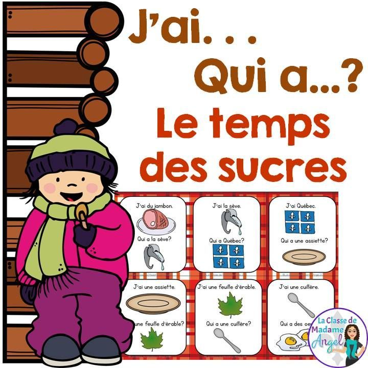 C'est les temps des sucres!  Fun game for practicing French vocabulary and learning about Maple Sugar Time!