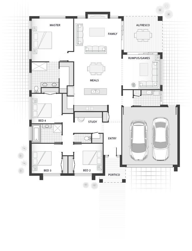 Standard floorplan for The Austin