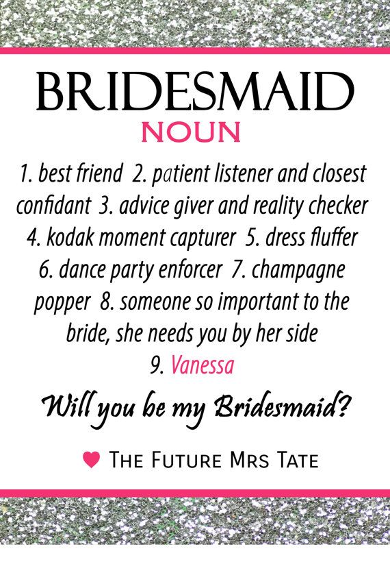 If youre looking for a bridesmaid proposal idea or the perfect bridesmaid gift as a thank you, our bridesmaid wine bottle label is a cute way to ask