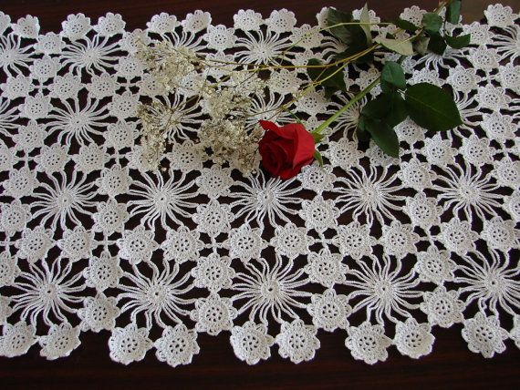 Mothers Day Gift New Hand Crochet Table by SherrysMagicHands