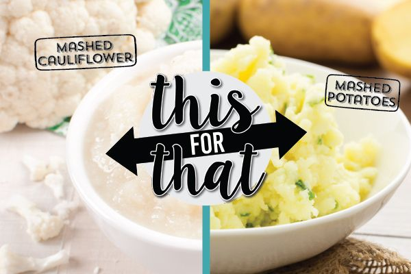 HEALTHY SWAP 7 of 10: Regular mashed potatoes contain loads of starch and fat - try mashed cauliflower instead.