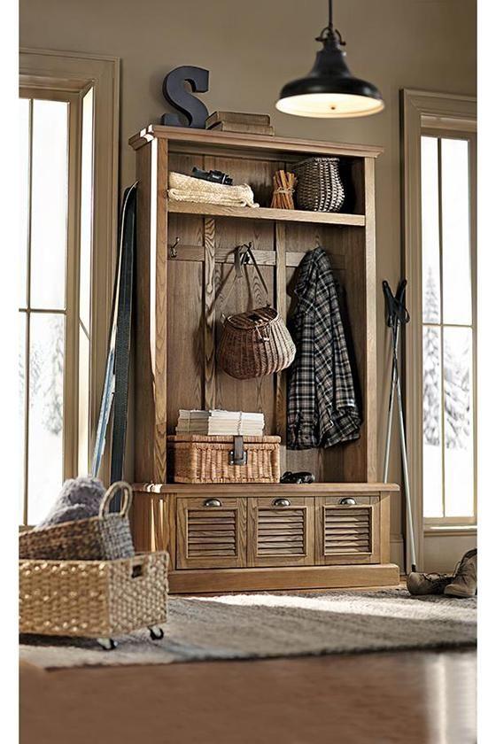 Foyer Locker Storage : Shutter locker style mudroom storage unit from home