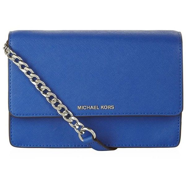 MICHAEL Michael Kors Daniela Small Cross Body Bag found on Polyvore featuring bags, handbags, shoulder bags, mini crossbody handbags, over the shoulder purse, crossbody handbag, blue crossbody and blue purse