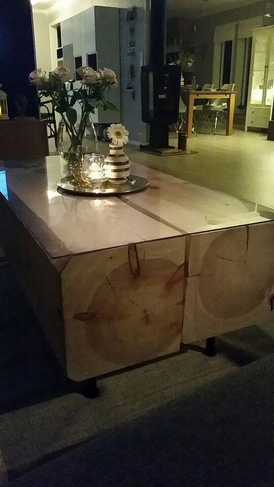 Timber table, livingroom ☺