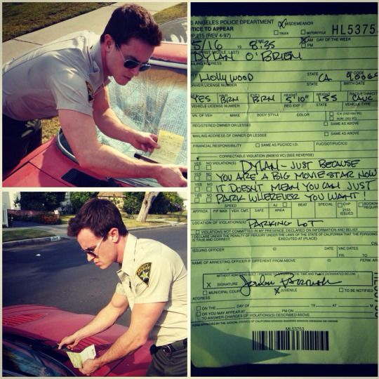 Dylan´s prank to Ryan Kelley (Parrish). Omfg lol! I love him so much