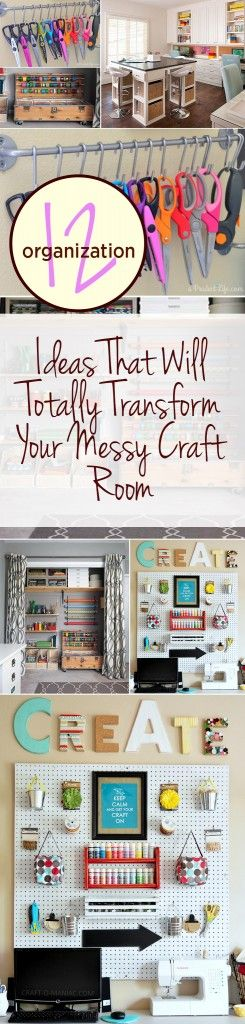 12 Organization Ideas That Will Totally Transform Your Messy Craft Room – Wrapped in Rust