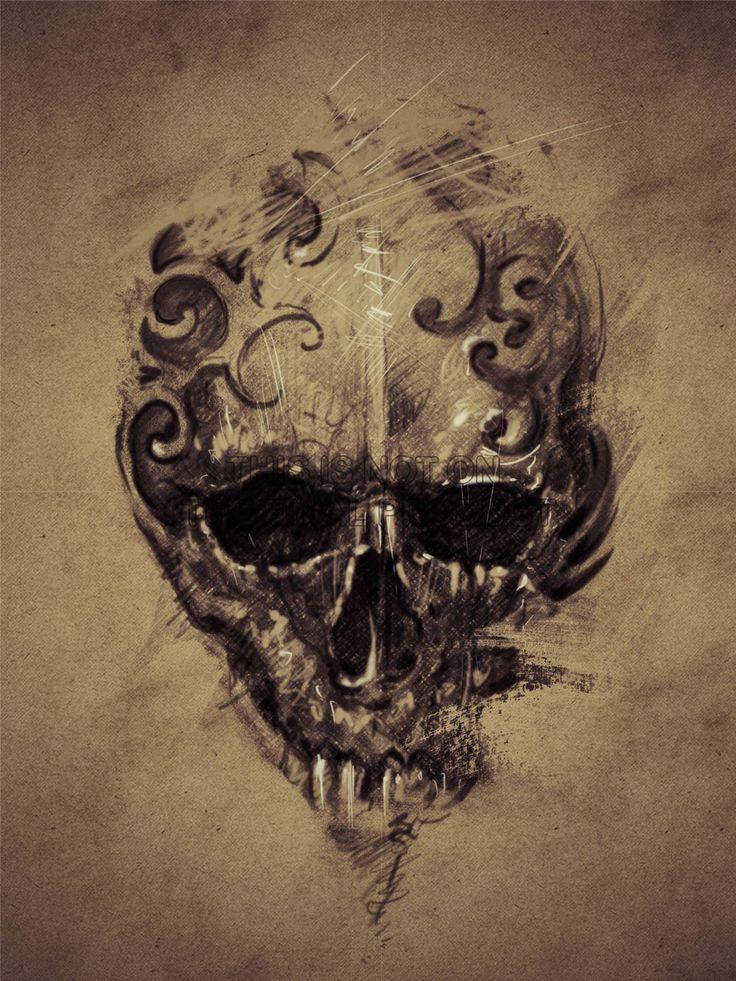 29 best gothic skull tattoos images on pinterest skull for Gothic painting ideas