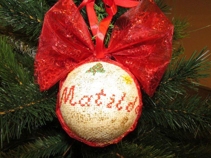Fai da te, punto croce, natale, ornaments, cross stitch, primo natale, first christmas ..