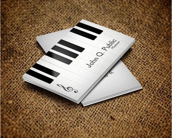 Piano Musician Business Card