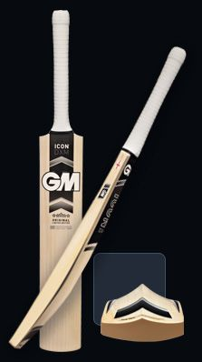 GM Cricket Bat. Made in England.