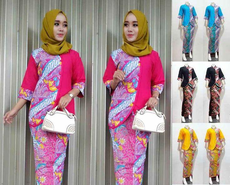29+ Model Baju Batik Setelan Wanita Kombinasi Terpopuler 2017