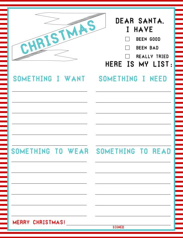 Christmas List - 4 things - trying this for next year at the beginning of Nov!