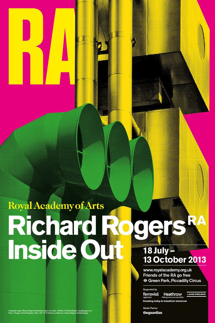Poster design exhibition - Richard Rogers 2013 Exhibition Poster 4 95 At The Ra Shop Online