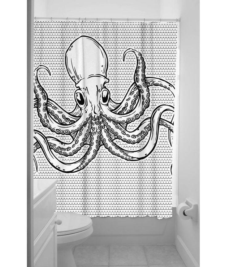 Sourpuss Octopus Shower Curtain: Amazon.co.uk: Kitchen & Home