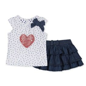 Available in ages 9 – 36 months. Follow your dreams 2 pack T & Skirt £8.00